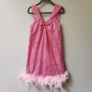 🍂Girl's Spangled Feathered Flapper Dress